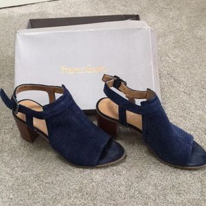 Franco sarto heels. Suede upper (dark blue)